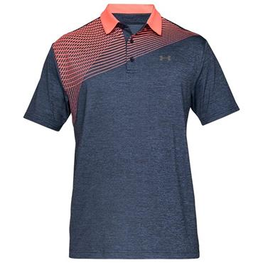 Under Armour Gents Playoff 2.0 Polo Shirt Navy - Orange