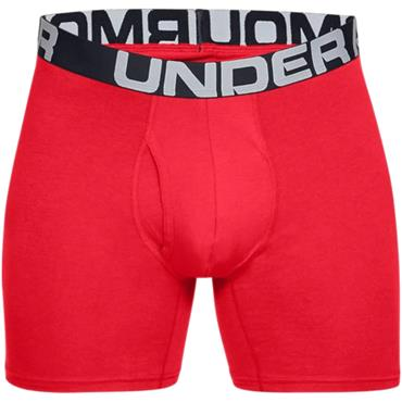 Under Armour Gents Cotton Boxers 3 Pack Red