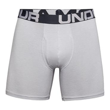 Under Armour Gents Cotton Boxers 3 Pack Grey