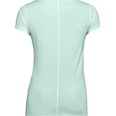 Under Armour Ladies HeatGear Armour Short Sleeve Top Blue