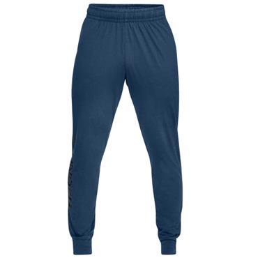 Under Armour Gents Sportstyle Cotton Graphic Jogger Pants Blue