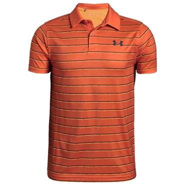 Under Armour Junior - Boys Tour Tips Stripe Polo Shirt Orange