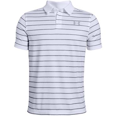 Under Armour Junior - Boys Tour Tips Stripe Polo Shirt White