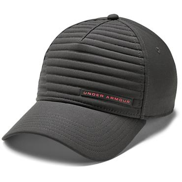 Under Armour Gents Embossed Golf Cap Dark Grey