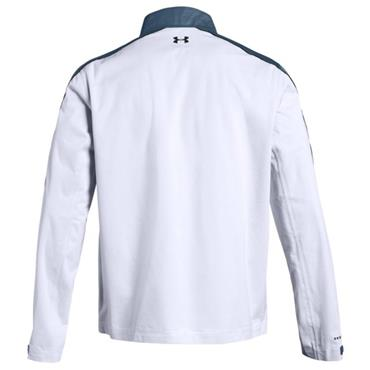 Under Armour Gents Waterproof Storm Rain Jacket White - Teal