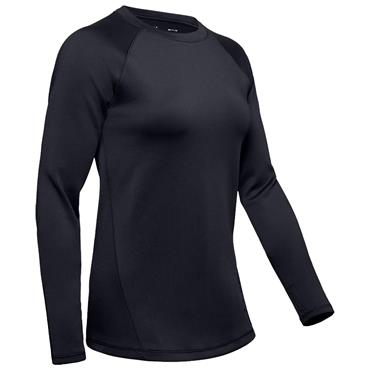 Under Armour Ladies ColdGear® Armour Long Sleeve Crew Neck Baselayer Black