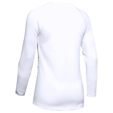 Under Armour Ladies ColdGear® Armour Long Sleeve Crew Neck Baselayer White
