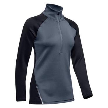 Under Armour Ladies ColdGear® Armour 1/2 Zip Colour Block Top Black