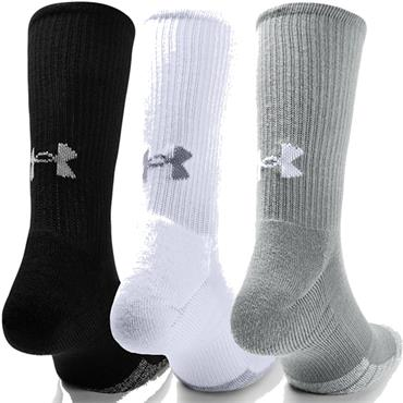 Under Armour Heatgear Crew Sock 3 - Pack Steel