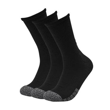 Under Armour Adult HeatGear® Crew Socks 3-Pack Black