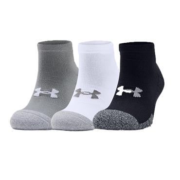 Under Armour Gents HeatGear® Lo Cut Golf 3-Pack Socks Steel