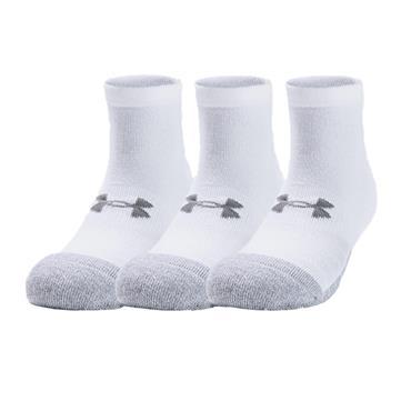 Under Armour Gents HeatGear® Lo Cut Golf 3-Pack Socks White