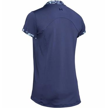 Under Armour Ladies Zinger Zip Polo Blue