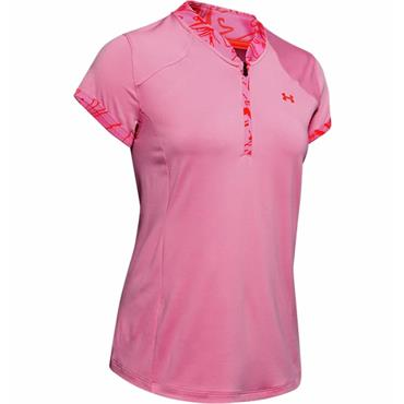Under Armour Ladies Zinger Zip Polo Lipstick