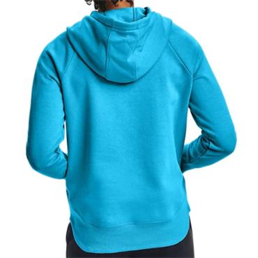 Under Armour Ladies Rival Fleece Metallic Hoodie Blue