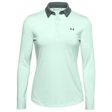 Under Armour Ladies Zinger Long Sleeve Polo Shirt Blue 403