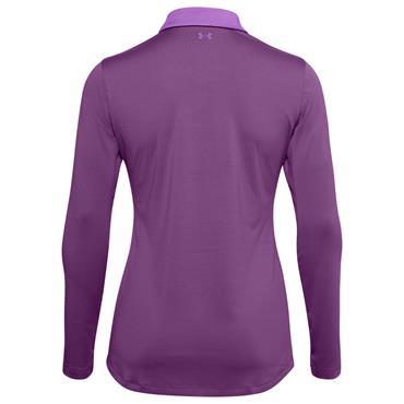 Under Armour Ladies Zinger Long Sleeve Polo Shirt Purple 519