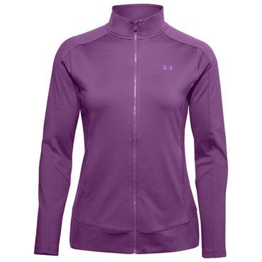 Under Armour Ladies Storm Midlayer Full Zip Top Purple 519
