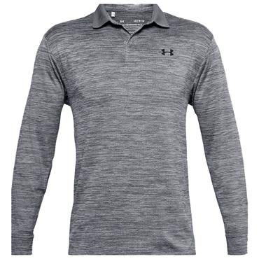 Under Armour Gents Performance Textured Long Sleeve Polo Shirt Grey 035