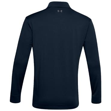Under Armour Gents Performance Textured Long Sleeve Polo Shirt Navy 408
