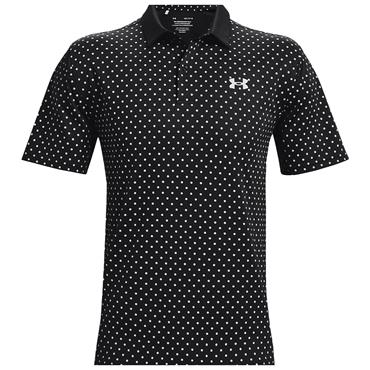 Under Armour Gents Performance Printed Polo Shirt Black 001