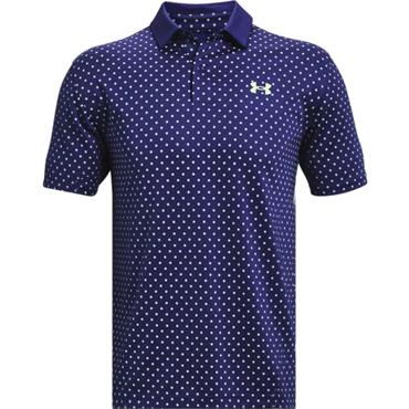 Under Armour Gents Performance Printed Polo Shirt Blue 415