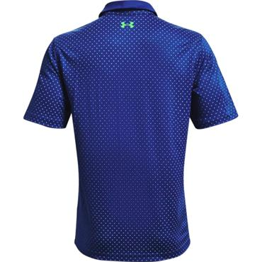 Under Armour Gents Performance Printed Polo Shirt Royal - Stadium Green 400