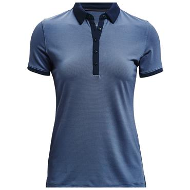 Under Armour Ladies Zinger Novelty Polo Shirt Blue 470