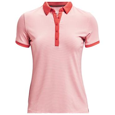 Under Armour Ladies Zinger Novelty Polo Shirt Pink 658