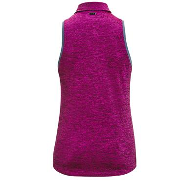 Under Armour Ladies Zinger Sleeveless Tipped Polo Shirt Purple 501