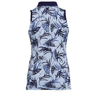 Under Armour Ladies Zinger Sleeveless Novelty Polo Shirt Blue 438