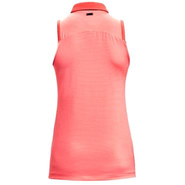 Under Armour Ladies Zinger Sleeveless Novelty Polo Shirt Red 690