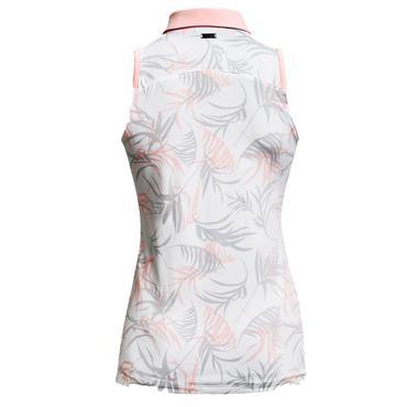 Under Armour Ladies Zinger Sleeveless Novelty Polo Shirt White 100