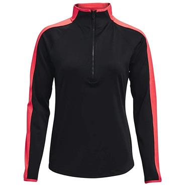 Under Armour Ladies Storm Midlayer ½ Zip Top Black 001