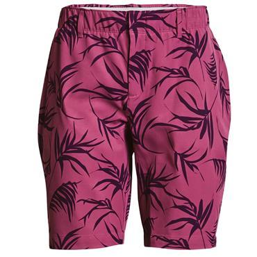Under Armour Ladies Links Printed Shorts Pink 678