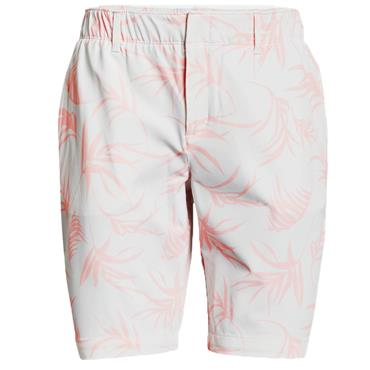 Under Armour Ladies Links Printed Shorts White 100