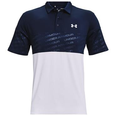 Under Armour Gents Playoff 2.0 Blocked Polo Shirt Navy 408