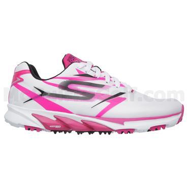 Skechers Ladies Go Golf Blade Golf Shoes White - Pink