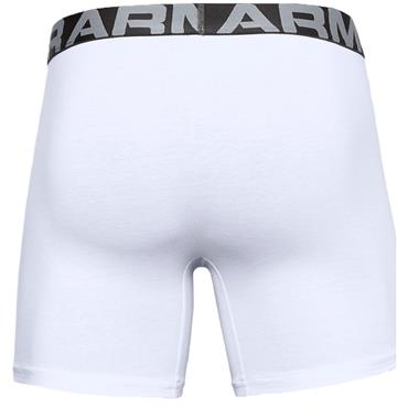 Under Armour Gents Cotton Boxers 3 Pack White