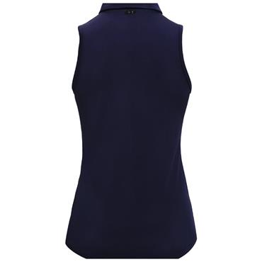 Under Armour Ladies Zinger Sleeveless Polo Shirt Navy 410