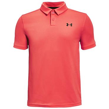 Under Armour Boys Performance Polo Red