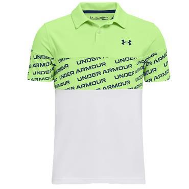 Under Armour Boys Perf. Wordmark Polo Green