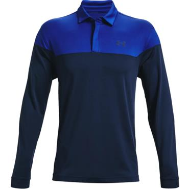 Under Armour Gents Long Sleeve Playoff Novelty Polo Royal