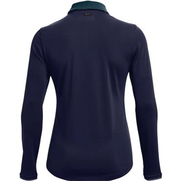 Under Armour Ladies Zinger Long Sleeve Polo Navy