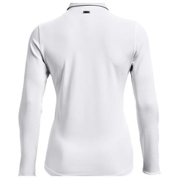 Under Armour Ladies Zinger Long Sleeve Polo Shirt White