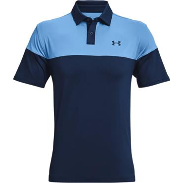 Under Armour Gents T2G Blocked Polo Shirt Navy 410