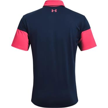 Under Armour Gents T2G Blocked Polo Shirt Pink 683