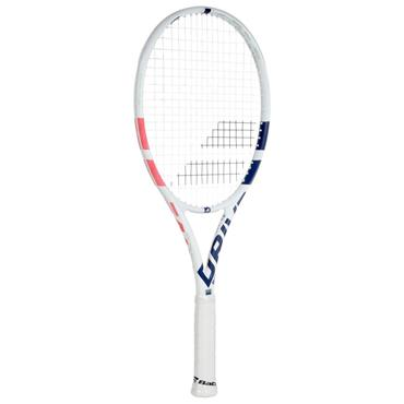 "Babolat Tennis Pure Drive Junior 26"" Racket White - Navy - Pink"