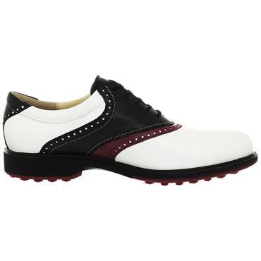 Ecco Gents Tour Hybrid Shoes White - Black - Port