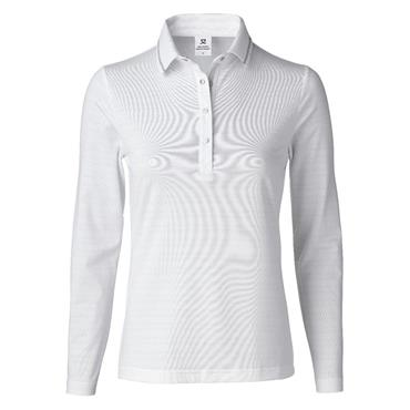 Daily Sports Ladies Wear Marika Long Sleeve Polo Shirt White